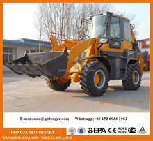 Tractor and wz30-25 backhoe loader price for road construction
