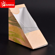 Paper triangle sandwich box for packaging/cardboard sandwich box