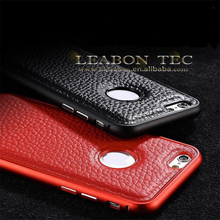 new for iphone 6 genuine leather case, for iphone 6 case metal bumper leather cover, for iphone 6 protective case