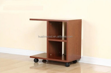 Wooden Fashion Brand New Cheap End Tables /Side Table With Wheels
