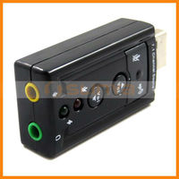 Black usb 7.1 sound card with CM108 Bonding chip