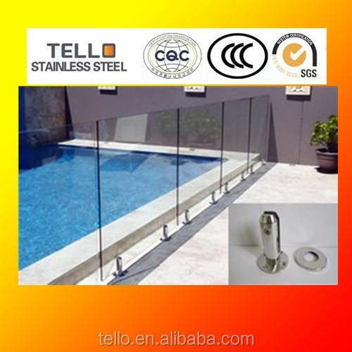 stainless steel round glass railing spigot