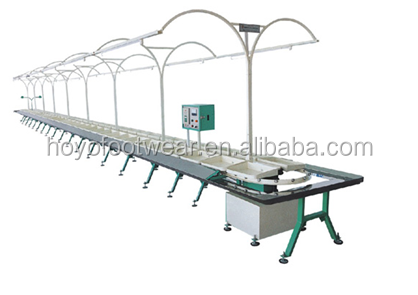 Rotary Type Shoe Upper Making Stitching Production Line Conveyor