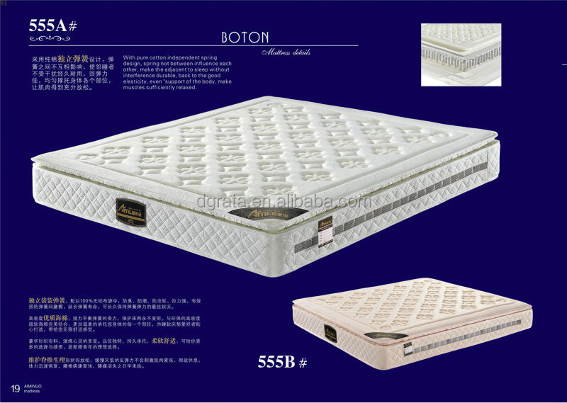 2014 High quality sleep easy mattress is made by spring and high density sponge for bedroom