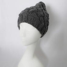 Merino wool blend cable knit hat custom made beanies