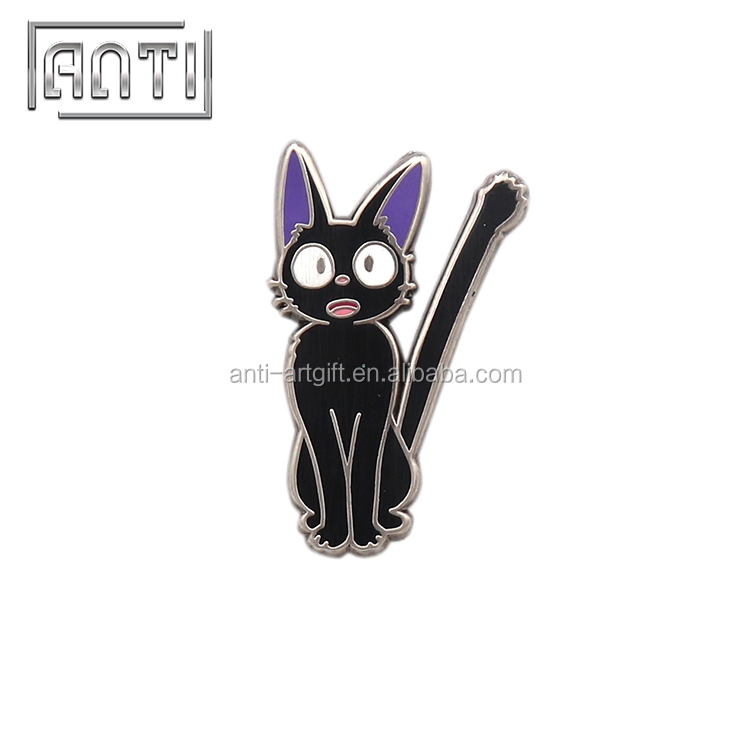 Custome lovely funny cat grateful cartoon lapel pin