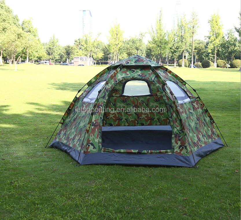 Camouflage Military Family Tent Outdoor Camping Hiking Instant Cabin
