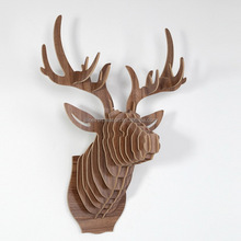3d wood animal wall arts of wood deer head