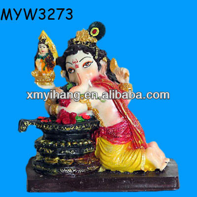 Fashion Resin ganesh hindu ganesha idol