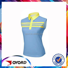 Polyester and spandex sublimation printing golf t-shirt and pants