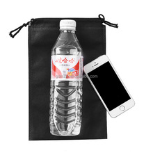 Custom making machine price small black non woven drawstring bag for water bottle
