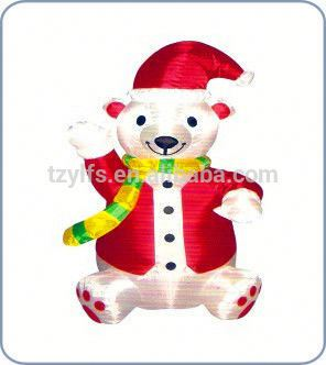 2015 Customized Promotional Moving Inflatable Cartoon Bear Toys Decorations