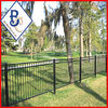 3 rail easily assembled steel fence