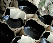 oxidized bitumen packed in meltable plastic bag