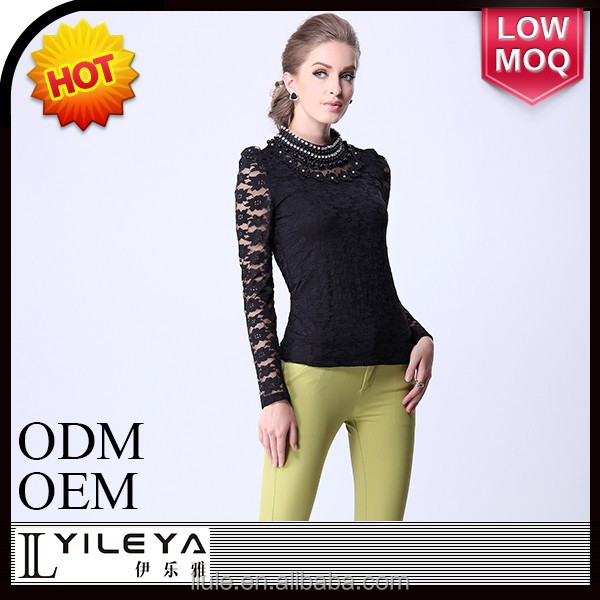 latest most popular women long sleeve blouse