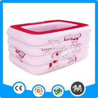 Plastic Rectangular PVC Inflatable Adult Swimming Pool