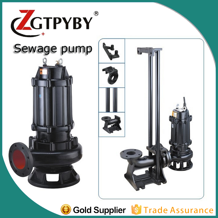 wq non-blocking submersible sewage pump producer high output water submersible pumps