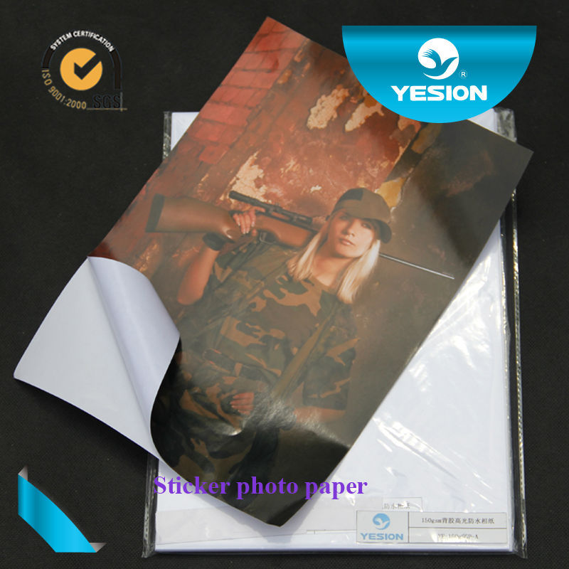 135gsm 120gsm sticker glossy inkjet waterproof waterproof photo paper
