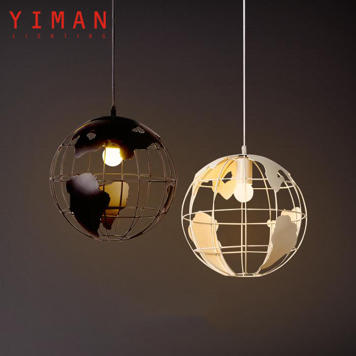 Industrial contracted metal white globe style ETL CE ROSH E27 Pendant lighting lamp interior decoration from china