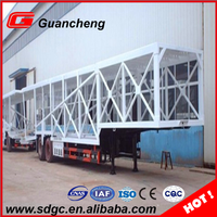 Car transport truck trailer 3 axles hydraulic car vehicle carrier semi trailer in China