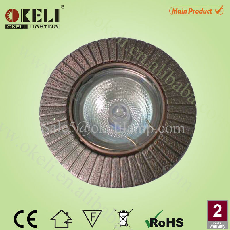 Copper MR16 ceiling mounted surface downlights