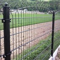 Best Price High Quality 6mmx2+5mmx1 peach post grid structure Double Weft Wire Security Fence