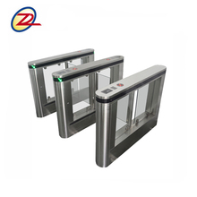 Security swing barrier alarm system optical turnstiles with qr code reader