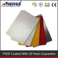 Alusign plastic panel popular aluminum roofing acp acrylic wall cladding