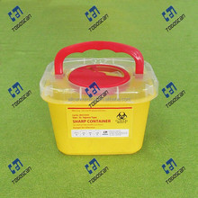 Plastic Sharp Container with Handle 3L nestable lid