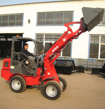 mini CE ZL06 wheel loader with quick hitch