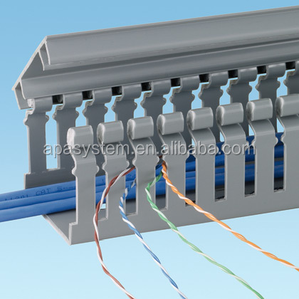 Slotted Cable PVC Channal With CE, ROHS