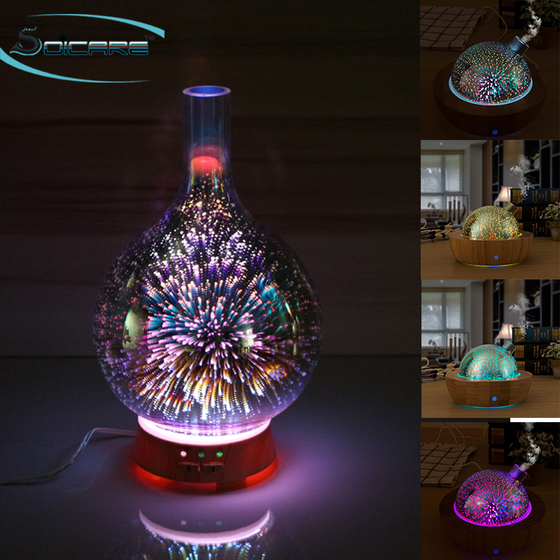 Home Decorative light 3D glass series difusor de aromas aromaterapia electrico