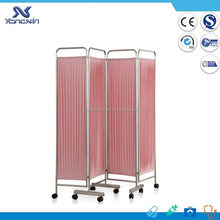 Hospital curtain fabric privacy screens with mesh