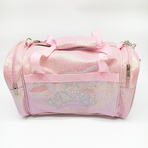 Pink Shiny dance competition glitter travel bag multipurpose