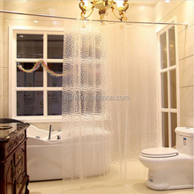 Hotel Thicken 3D Waterproof Water Cube Bathroom Shower Curtain material