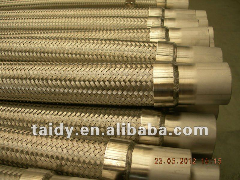 stainless steel flexible hose with end pipe
