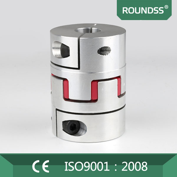 Roundss 20mm plum flexible coupling shaft coupler connect with rotary encoder