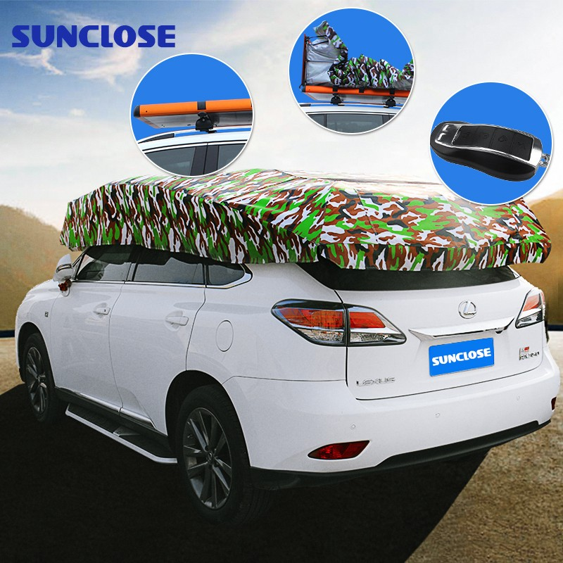 SUNCLOSE Folding Waterproof Portable Car Cover Tent Pop Up Garage Car Cover