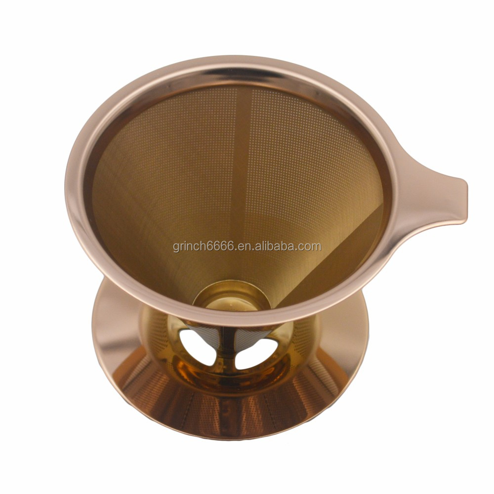Reusable Copper Coffee cone Filter