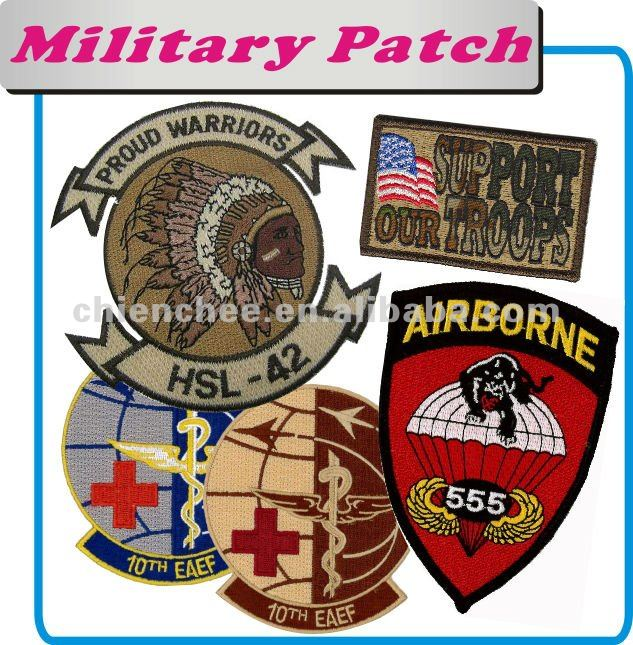Embroidery Patches Sew On Sewing Military Accessories for Army Air Force Sea Force Patch Emblem Badge Label Crest Insignia