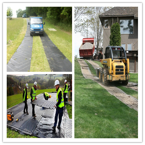 4x8 ft HDPE ground protection mats for lawn protection