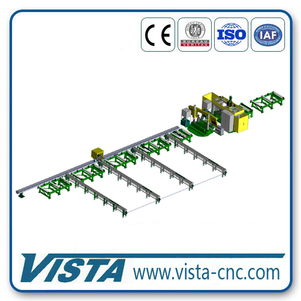 Structural Steel CNC Beam Drilling Line