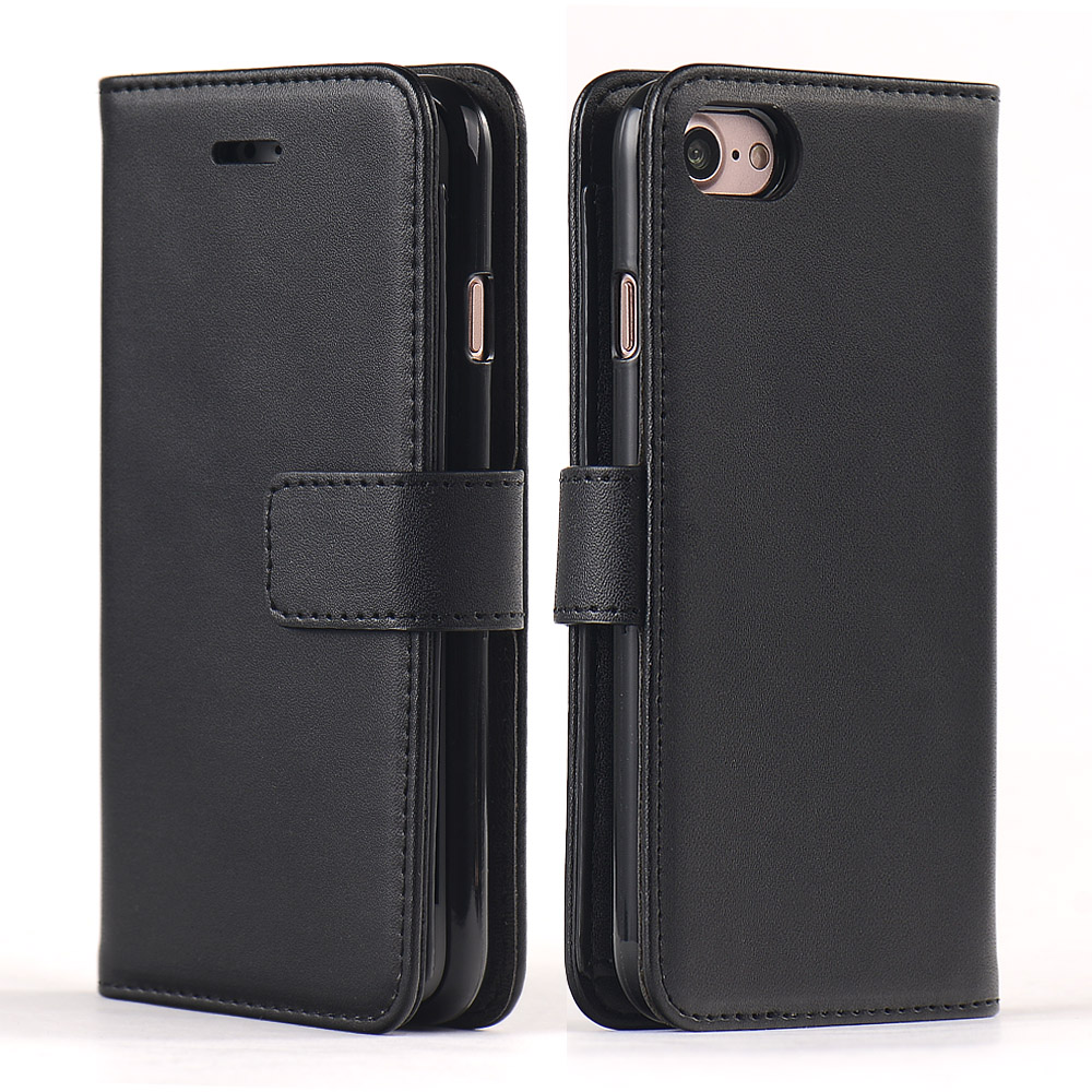2017 New Arrival 5 Card Slots Wallet Case For iPhone 7 PU Leather Flip Cover