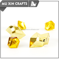 plastic glittering gold color gem pieces prepared for board game made by factory