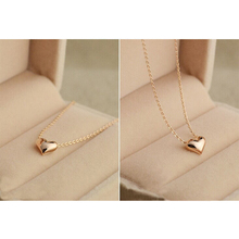 Fashion Elegant Lovely Simple Gold Tone Solid Heart Shaped <strong>Necklace</strong> Lady/Girl/Woman Party Prom Gift