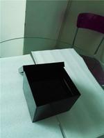 custom plastic black acrylic square flower box