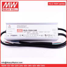 Meanwell 150W 24V Dimmable LED Driver Waterproof IP67 HLG-150H-24B Constant Voltage + Constant Current