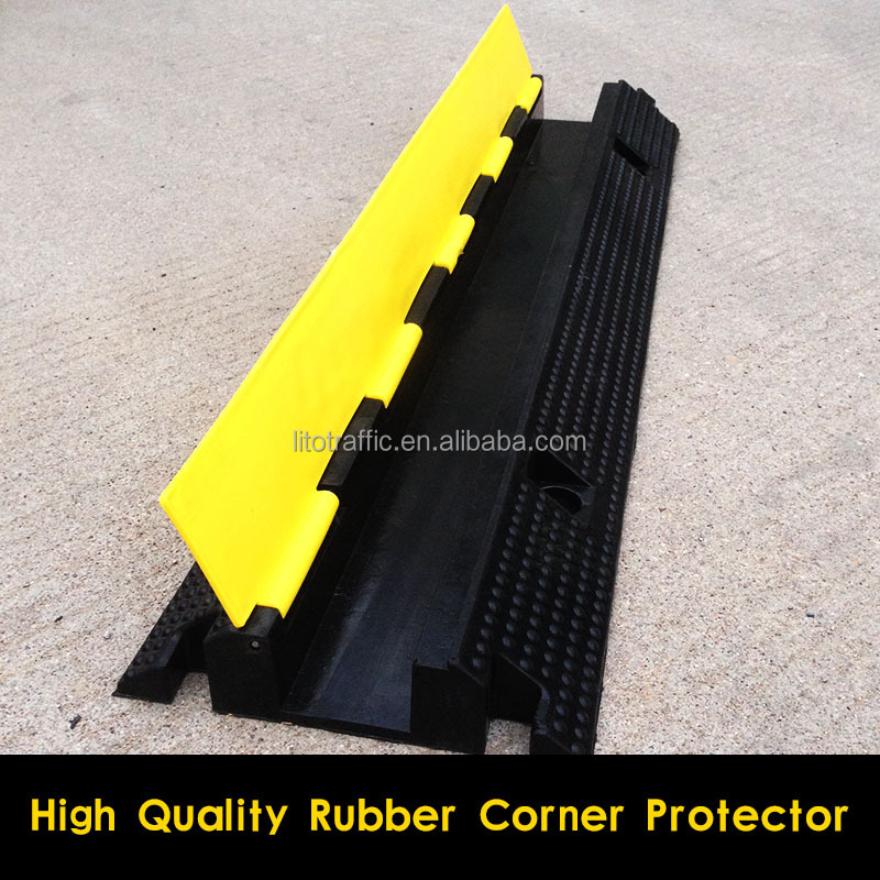 High quality 1 Channel Rubber and PVC Cable Protector