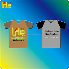 customized soccor player's promotional T shirt shape paper air freshener