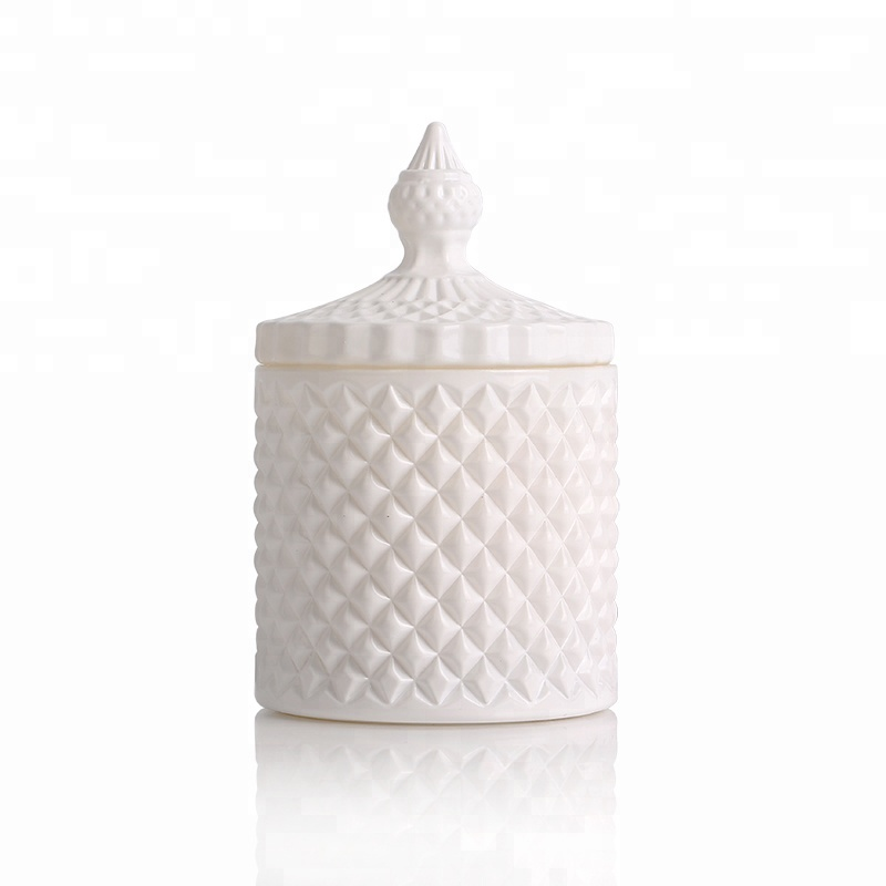 CJ128 China Supplier Personalized Ribbed Glass Candle Jar